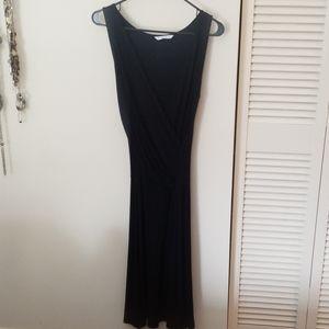 cAbi black sleeveless maxi dress